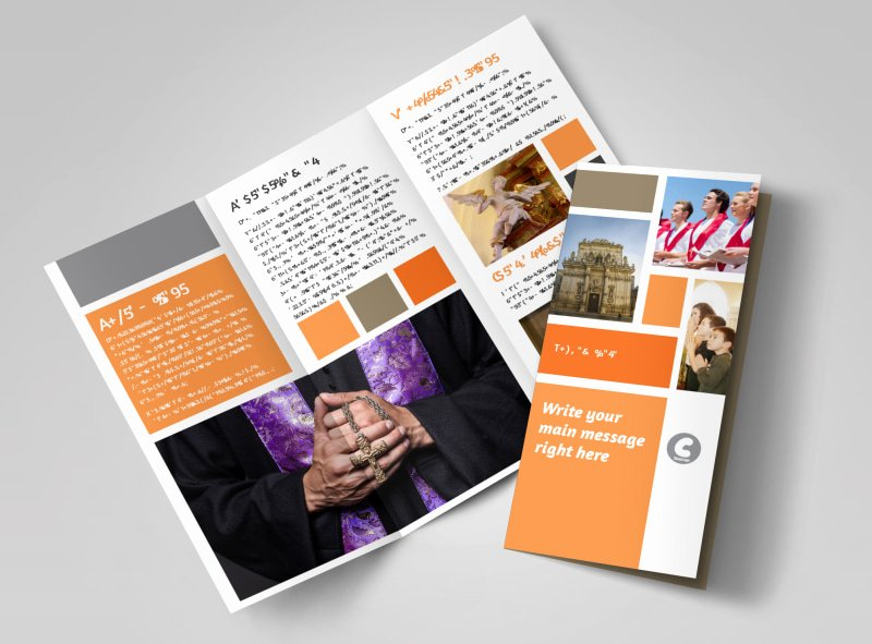 2 Folded Brochure Template Unique General Church 2 Brochure Template