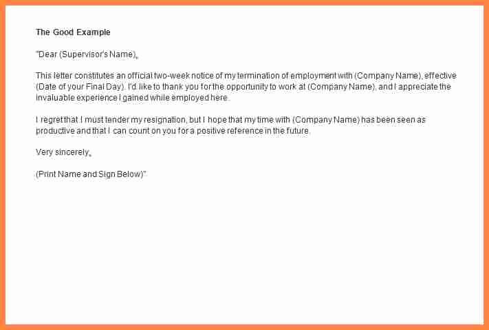 2 Weeks Notice Email Template Inspirational 7 2 Week Notice Email Template