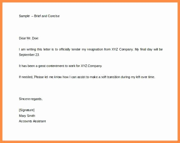 2 Weeks Notice Email Template New Two Week Resignation Letter 2 Weeks Notice Template