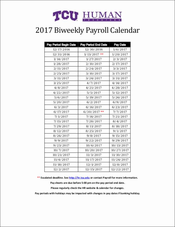 2017 Biweekly Payroll Calendar Template Elegant 26 Payroll Samples & Templates In Pdf