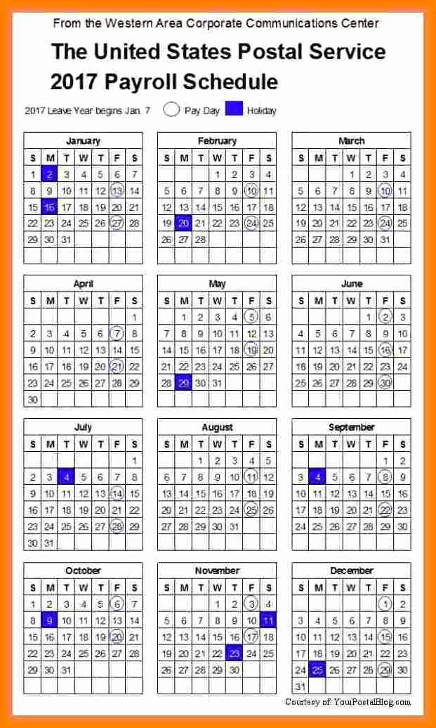 2017 Biweekly Payroll Calendar Template Luxury 14 Securitas Pay Calendar 2018
