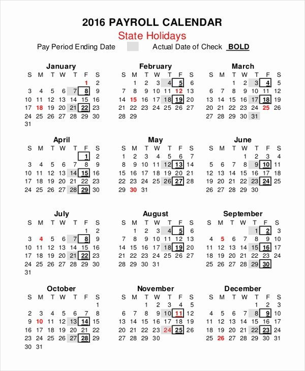 2017 Biweekly Payroll Calendar Template Luxury 2018 Biweekly Pay Calendar Template Free Calendar Template