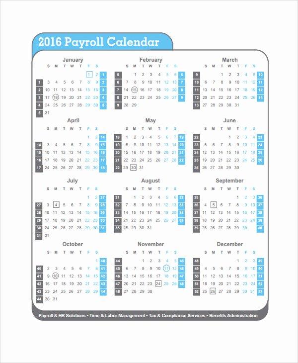 2017 Payroll Calendar Template Best Of Semi Monthly Payroll Calendar 2017 Template