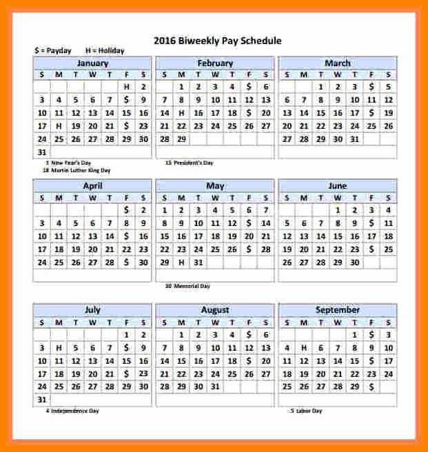 2017 Payroll Calendar Template Elegant 5 2018 Semi Monthly Payroll Calendar