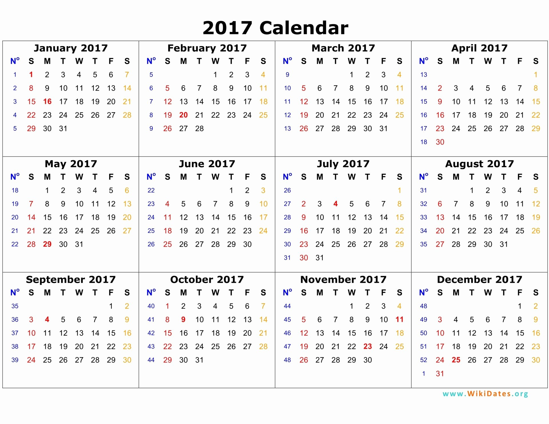 2017 Payroll Calendar Template Fresh 2017 Calendar