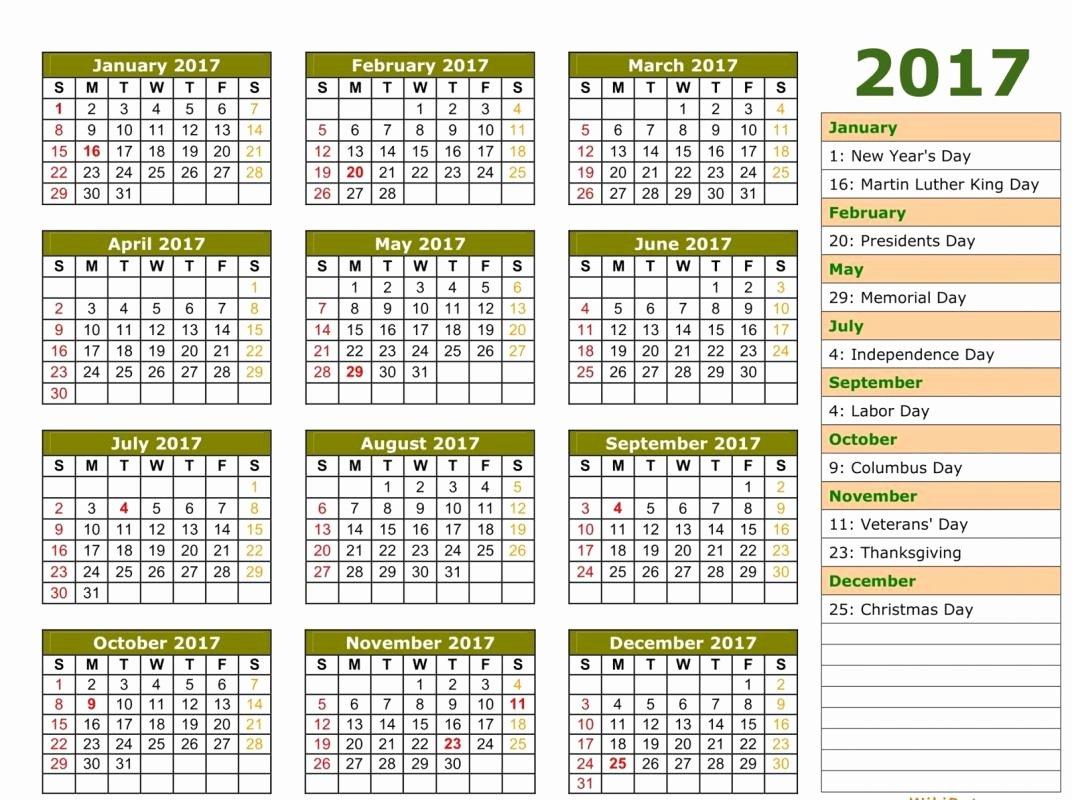 2017 Payroll Calendar Template New 2017 Payroll Calendar Template