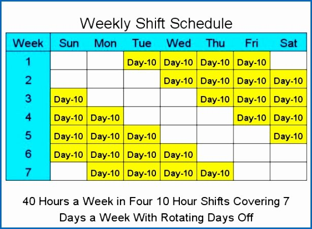 24 Hour Shift Schedule Template Fresh 10 Hour Shift Schedule 24 Hour Coverage Hashtag Bg