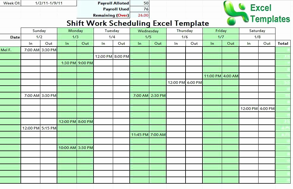 24 Hour Shift Schedule Template Luxury Tips Templates for Creating A Work Schedule In Excel Shift