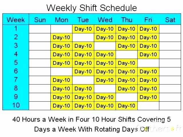 24 Hour Shift Schedule Template Unique Excel Hour Schedule Template Unique Blank Employee Free