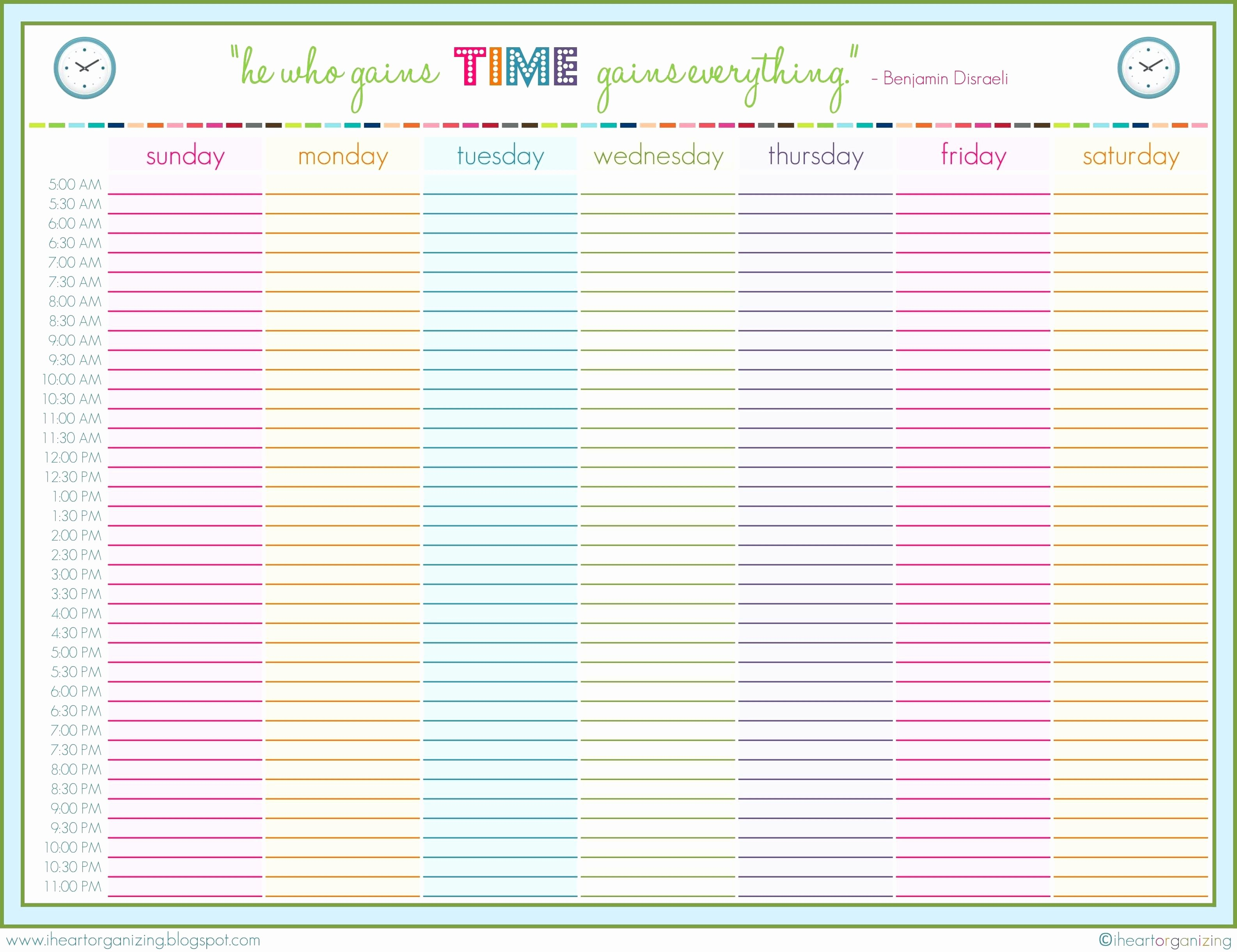 24 Hour Weekly Schedule Template Awesome 9 24 Hour Printable Schedule