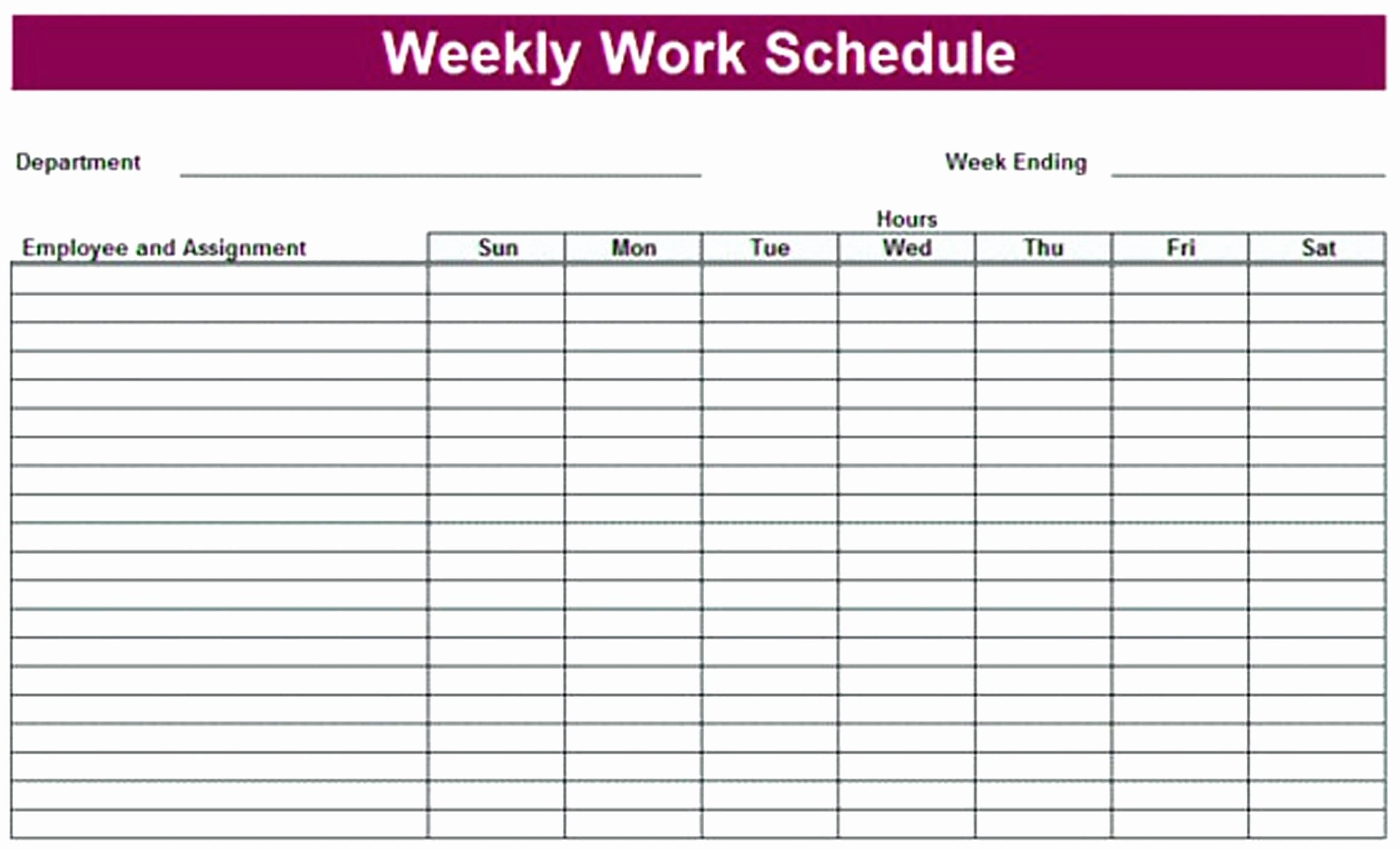 24 Hour Weekly Schedule Template Best Of Printable 24 Hour Weekly Schedule Printable