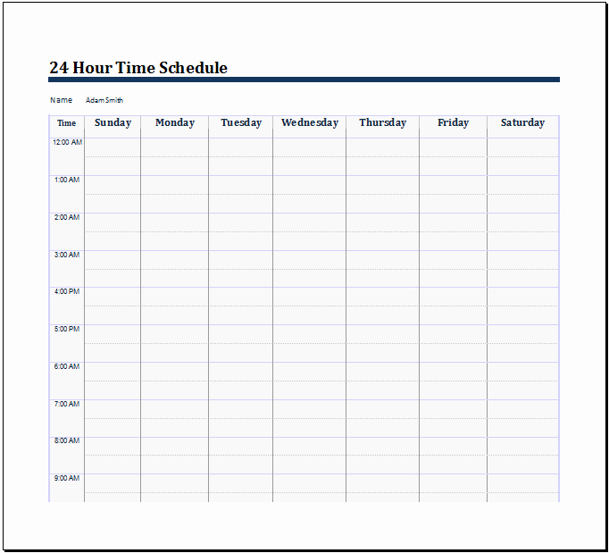 "24 Hr Schedule Template Awesome Search Results for ""24 Hour Schedule Printable"" – Calendar"