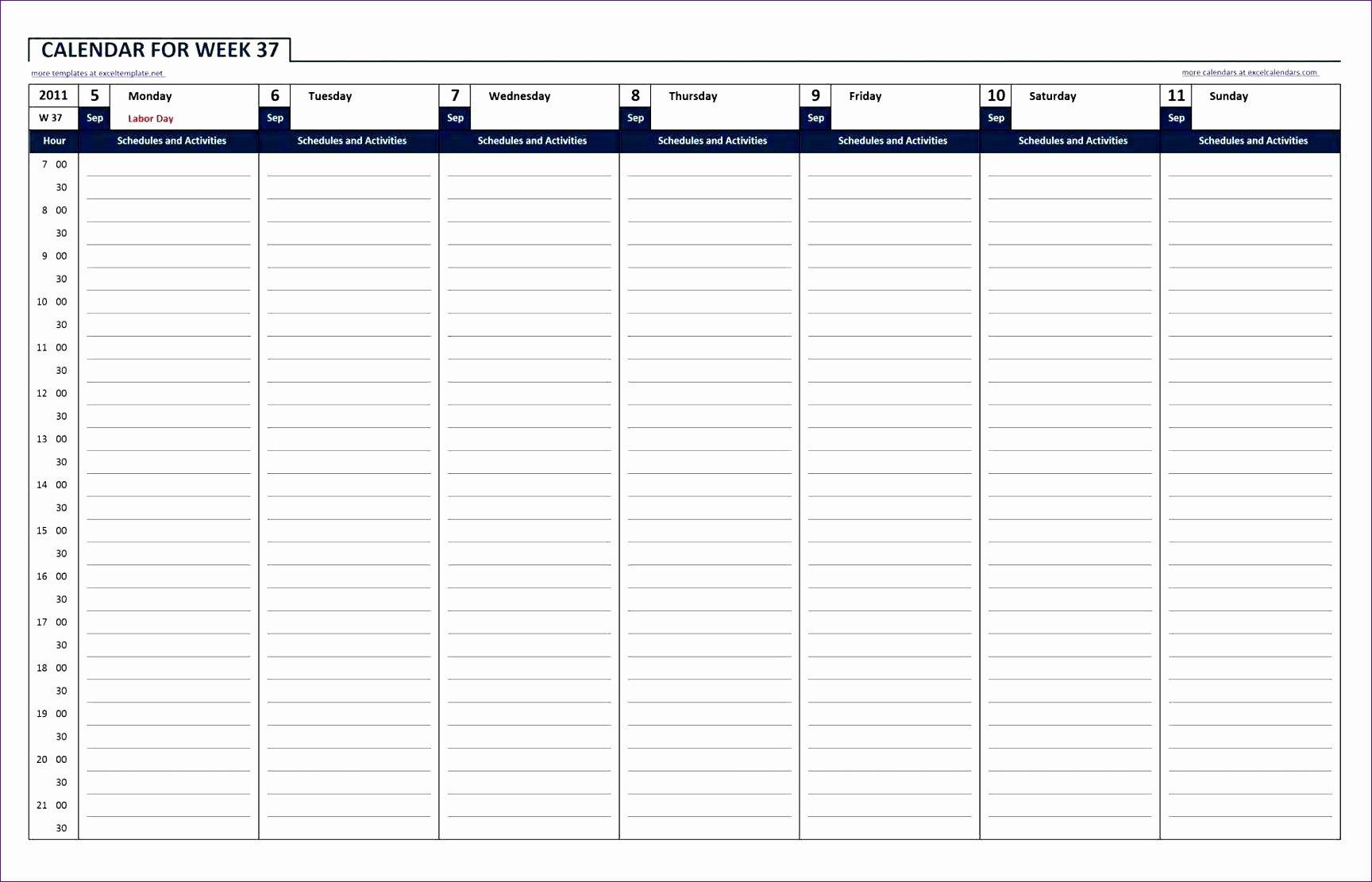24 Hr Schedule Template Elegant 10 24 Hour Work Schedule Template Excel Exceltemplates