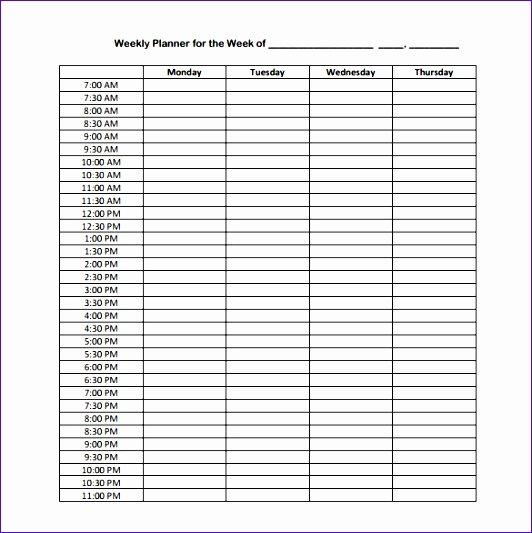 24 Hr Schedule Template Elegant 7 Excel 24 Hour Schedule Template Exceltemplates