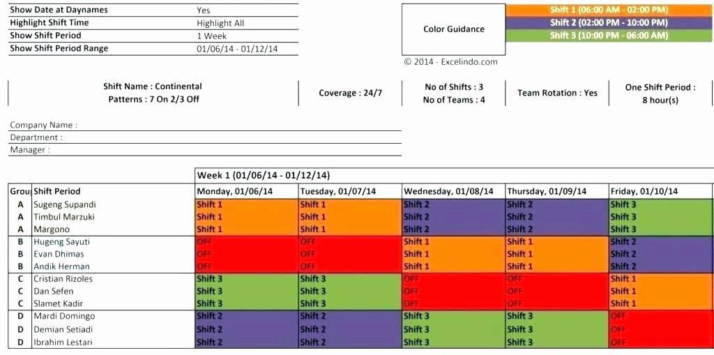 24 Hr Schedule Template Inspirational Coverage 8 Hr Schedules 4 Crew 7 Shift Schedule Excel