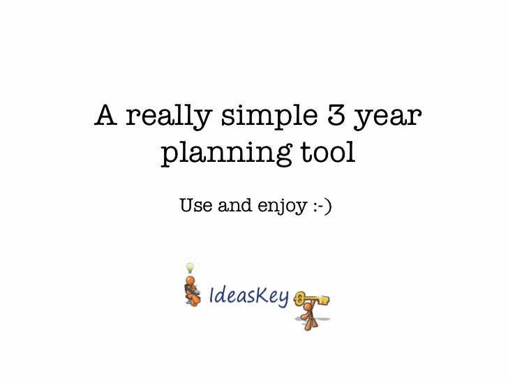 3 Year Strategy Plan Template Awesome Really Simple 3 Year Plan Template