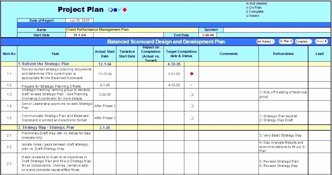 3 Year Strategy Plan Template Unique Strategic Planning Template Excel Project Plan Management