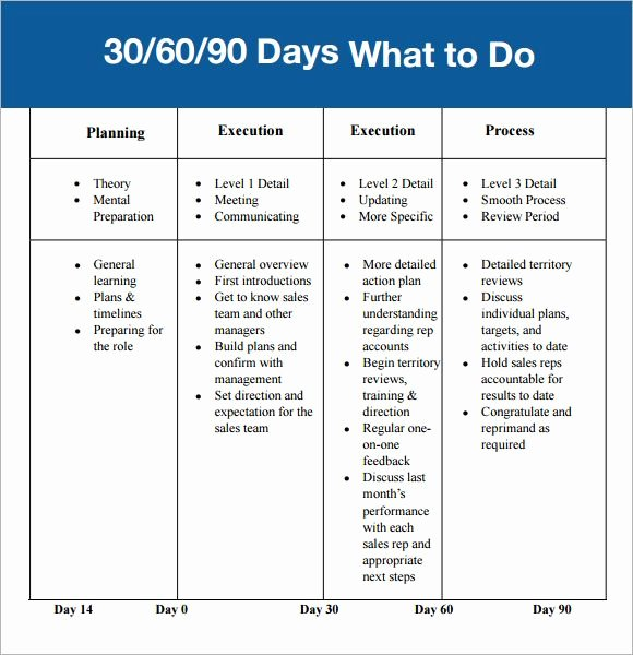 30 Day Review Template Best Of 30 60 90 Day Plan Template Affordablecarecat