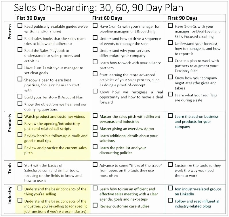 30 Day Review Template Inspirational Day Sales Plan Template Free Sample Awesome Review
