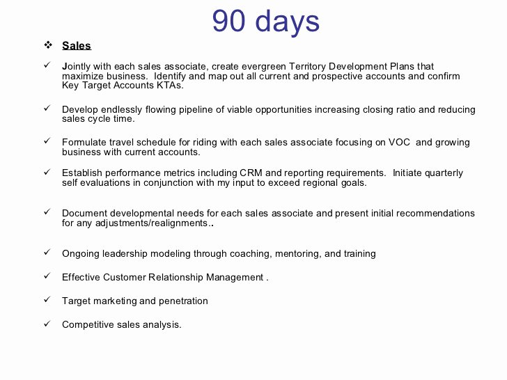 30 Day Review Template Luxury 30 60 90 Days Plan to Meet Goals for New organization