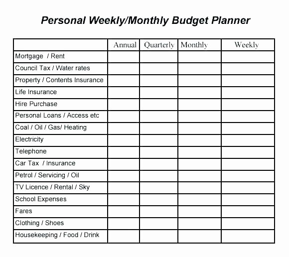 5 Year Budget Plan Template Awesome Individual Bud Template Excel Weekly Luxury 1 3 5 Year