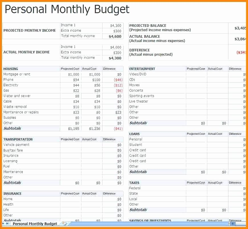5 Year Budget Plan Template New Personal Bud Plan Template – Vancouvereast