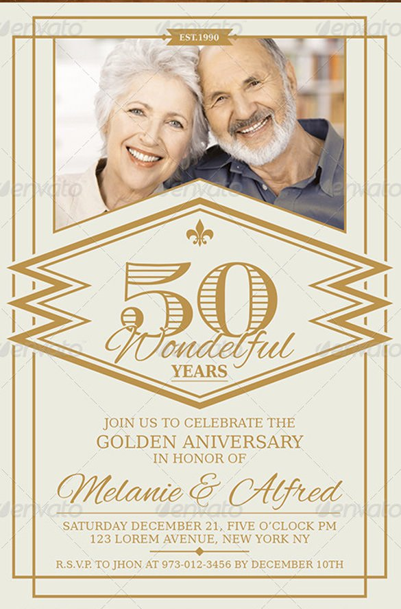 50th Wedding Anniversary Invitation Template Best Of 27 Anniversary Invitation Templates Psd Ai Word