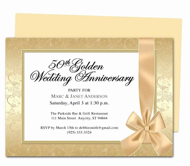 50th Wedding Anniversary Invitation Template Best Of 9 Best 25th & 50th Wedding Anniversary Invitations