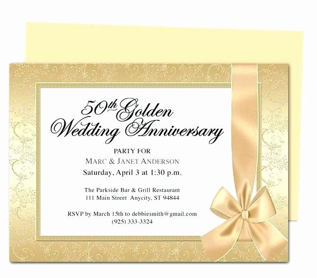 50th Wedding Anniversary Invitation Template Elegant 3 Wedding Anniversary Invites 4 Invitation