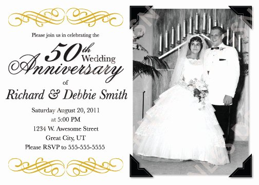 50th Wedding Anniversary Invitation Template Elegant 5 Best Of 50th Anniversary Invitations Free