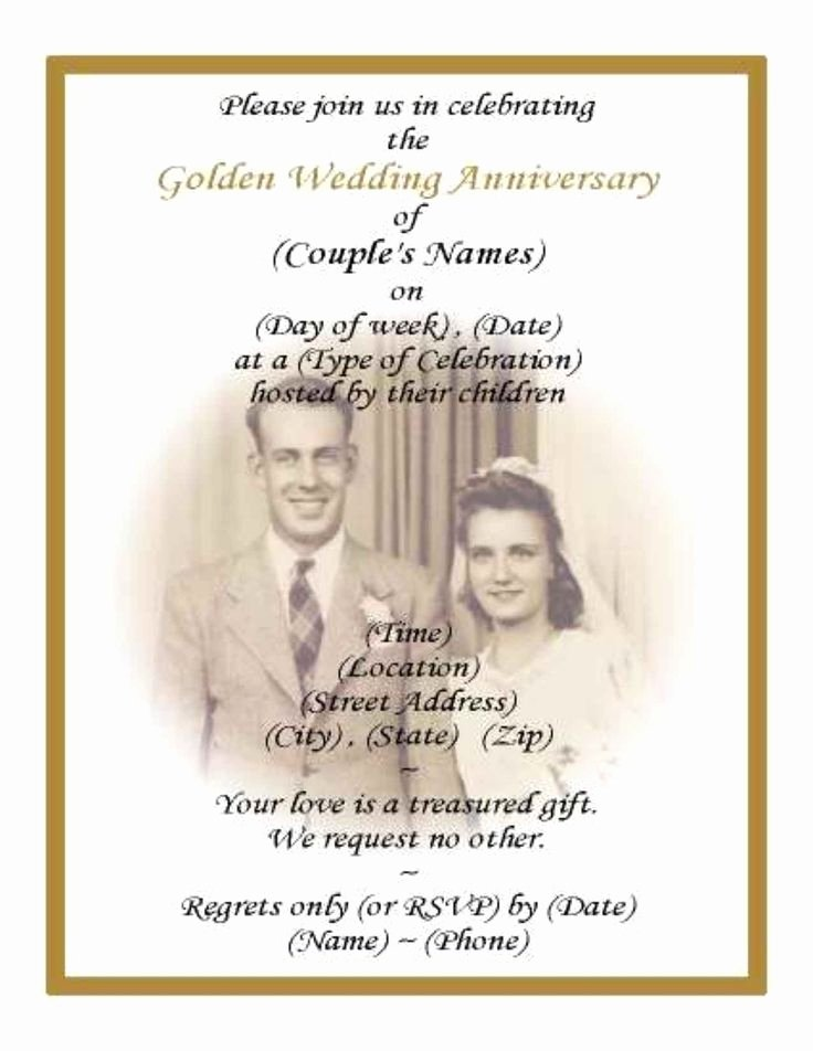50th Wedding Anniversary Invitation Template Elegant Best 25 50th Anniversary Invitations Ideas On Pinterest