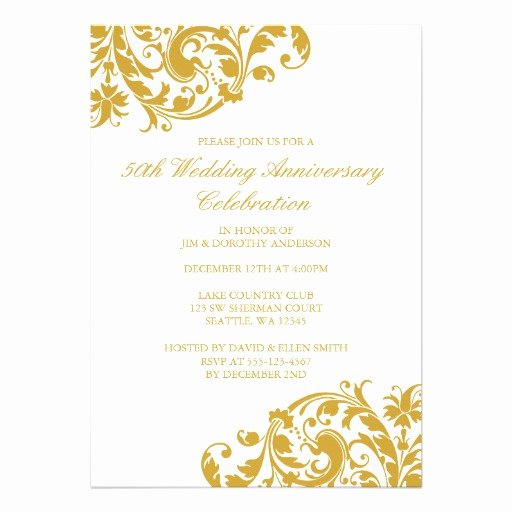 50th Wedding Anniversary Invitation Template Elegant Wording Examples for 50th Wedding Vows
