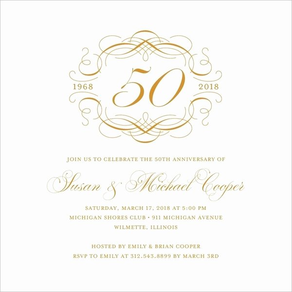 50th Wedding Anniversary Invitation Template Fresh 22 Wedding Anniversary Invitation Card Templates Word
