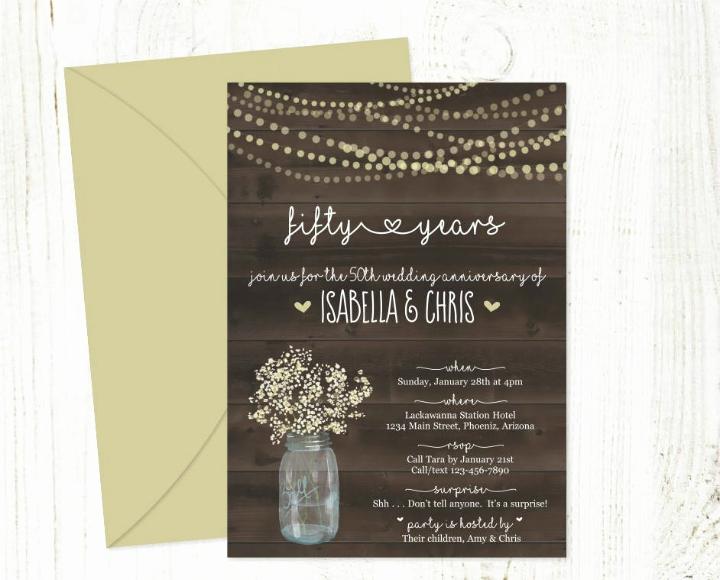 50th Wedding Anniversary Invitation Template Inspirational 32 50th Wedding Anniversary Invitation Designs