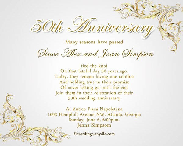 50th Wedding Anniversary Invitation Template Inspirational 50th Wedding Anniversary Invitation Templates Templates