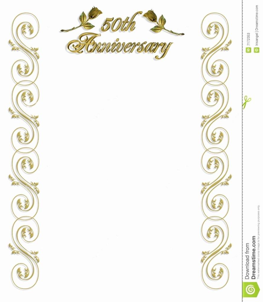 50th Wedding Anniversary Invitation Template Inspirational 50th Wedding Anniversary Invitations Templates Free