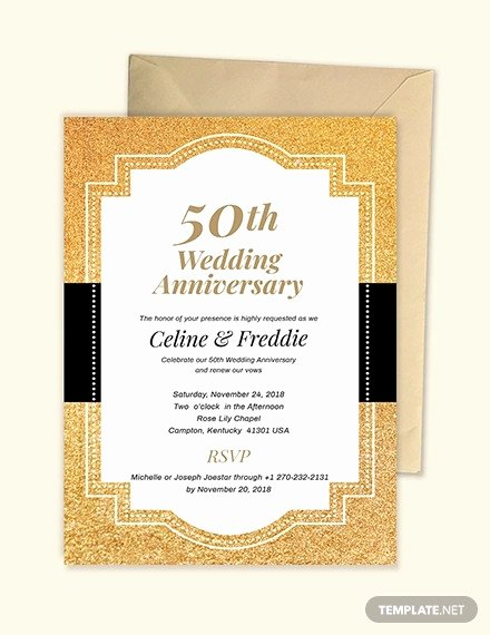 50th Wedding Anniversary Invitation Template Lovely 22 Anniversary Invitation Templates Psd Ai Word