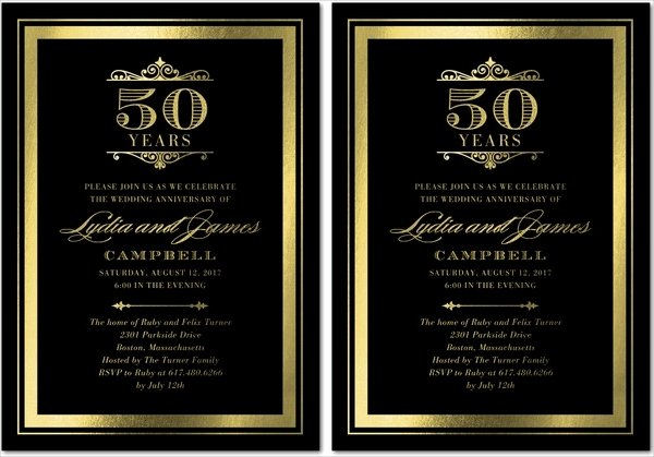50th Wedding Anniversary Invitation Template Lovely 22 Wedding Invitations