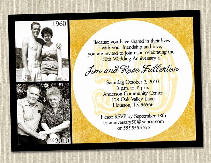 50th Wedding Anniversary Invitation Template Lovely 50th Anniversary Invitation Golden Gold Anniversary