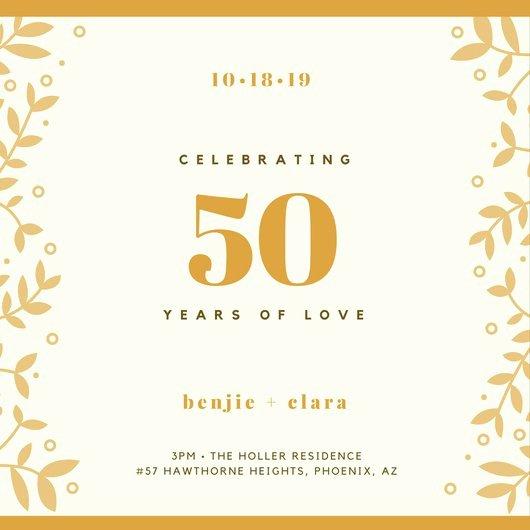 50th Wedding Anniversary Invitation Template Lovely Customize 1 796 50th Anniversary Invitation Templates