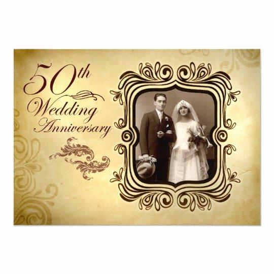 50th Wedding Anniversary Invitation Template Lovely Fancy 50th Wedding Anniversary Invitations