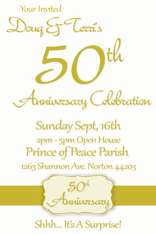 50th Wedding Anniversary Invitation Template Luxury Printable 50th Wedding Anniversary Invitations
