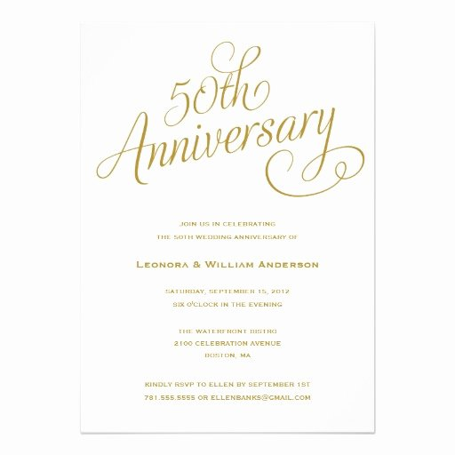 50th Wedding Anniversary Invitation Template New 50th Wedding Anniversary Invitation Superdazzle Custom