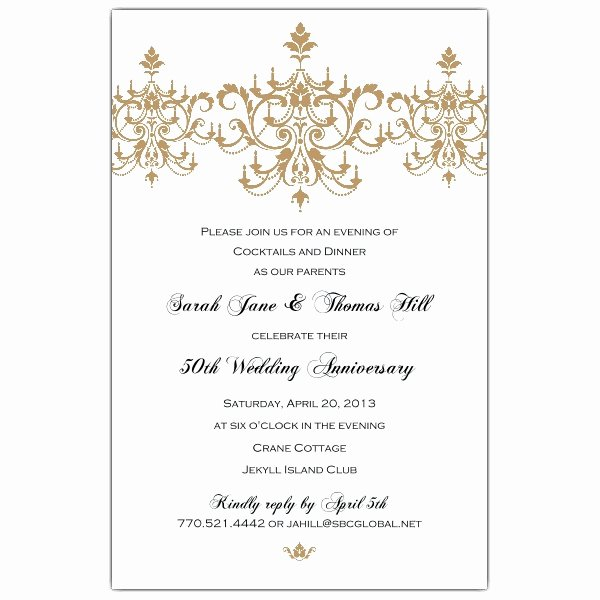 50th Wedding Anniversary Invitation Template New 50th Wedding Anniversary Invitation Templates Margusriga