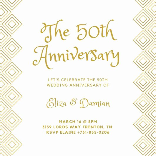 50th Wedding Anniversary Invitation Template Unique Customize 1 796 50th Anniversary Invitation Templates
