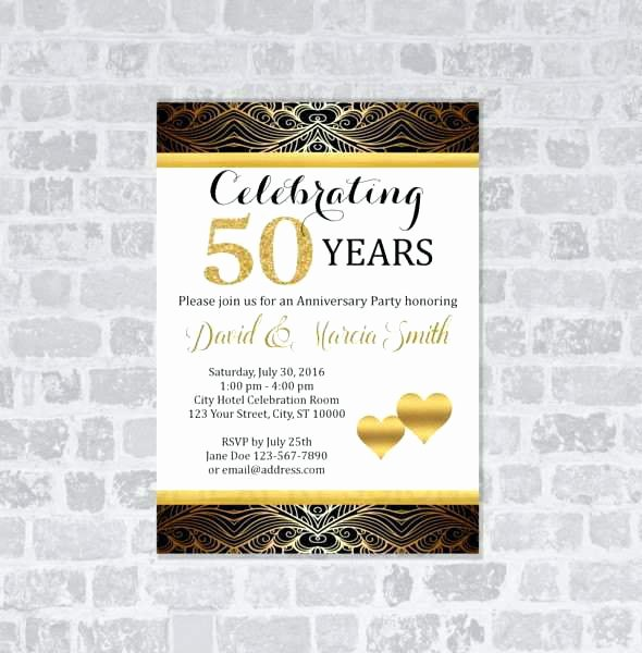 50th Wedding Anniversary Invitation Template Unique Free 50th Anniversary Invitations Inspirational 13 Fresh