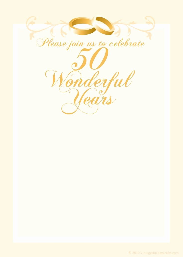 50th Wedding Anniversary Invitation Template Unique Free Anniversary Invitation Templates