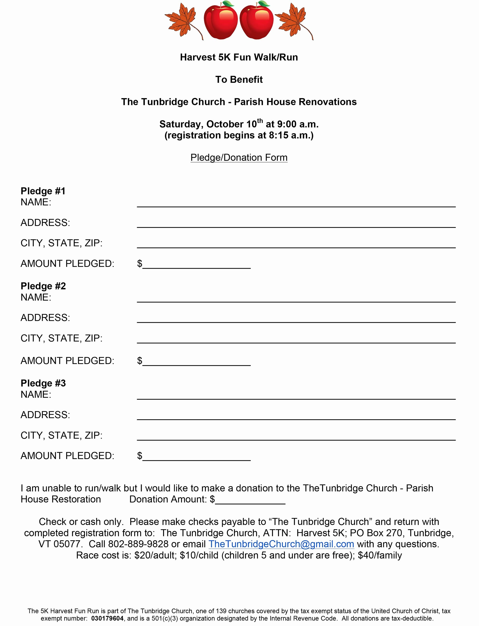 5k Registration form Template Beautiful 5k Registration forms Runners Can Also Register On