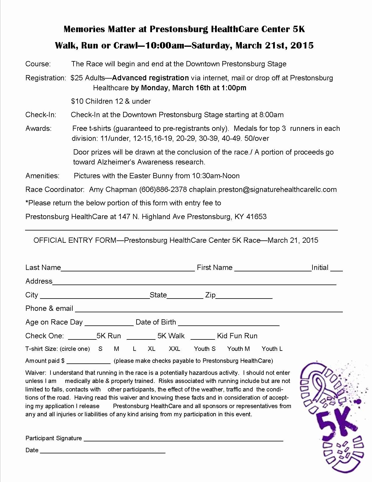5k Registration form Template Best Of 5k Registration forms Runners Can Also Register On