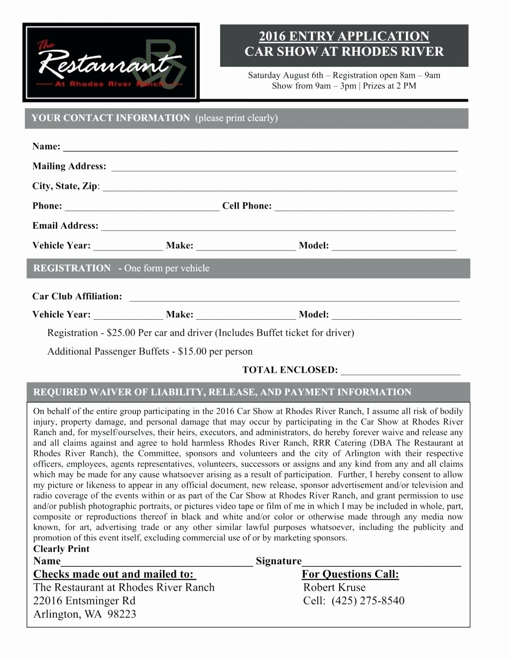 5k Registration form Template Fresh 5k Registration form Template